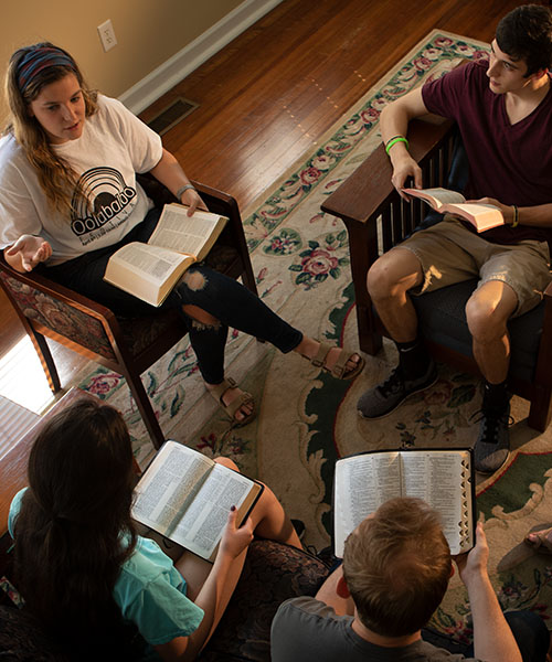 Group of students in Bible study