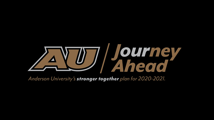 Anderson University the Journey Ahead Logo