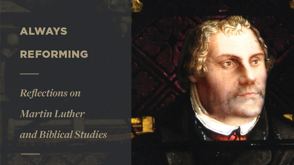 An image of the cover of a book on Martin Luther by Anderson University professor Dr. Channing Crisler.