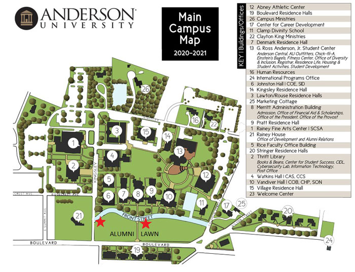 Image of campus map