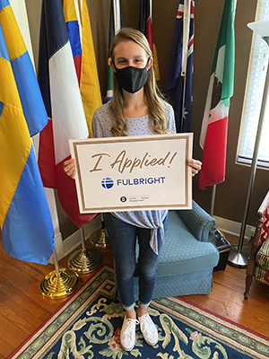 Sarah Hoover is a Fulbright Applicant!
