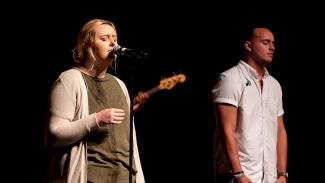 Two Anderson University Students Singing