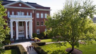 Merritt Administration Building on the Campus of Anderson University in South Carolina